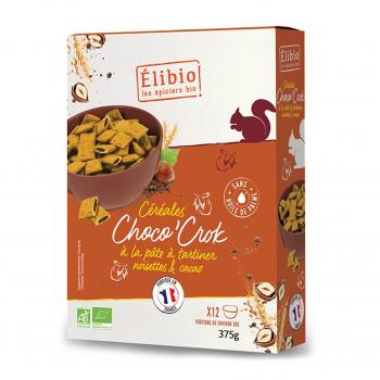 Céréales fourrées Choco'crok 375g bio - Elibio