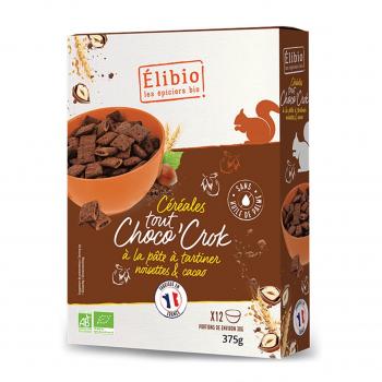 Céréales fourrées Tout Choco'crok 375g bio - Elibio