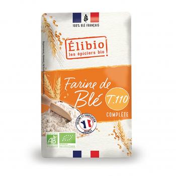 Farine de blé complète T110 1kg bio - Elibio