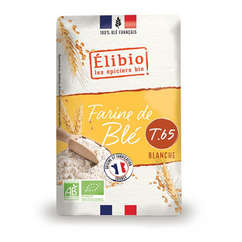 Farine de blé blanche T65 1kg bio - Elibio