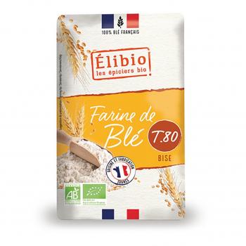 Farine de blé bise T80 1kg bio - Elibio