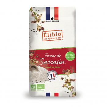 Farine de sarrasin semi-complète 1kg bio - Elibio