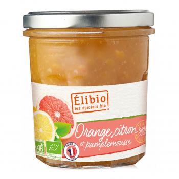 Préparation à l'orange-citron-pamplemousse 320g bio - Elibio