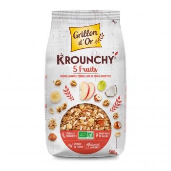 Céréales Krounchy 5 fruits 500g bio - Grillon d'Or