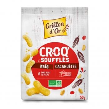 Croq'soufflés maïs et cacahuète 50g bio - Grillon d'Or