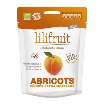 Abricots séchés moelleux 150g bio - Lilifruit