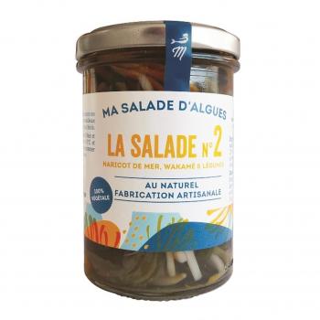 Salade d'algues (haricot de mer. wakamé) & légumes au naturel 110g bio - Marinoë