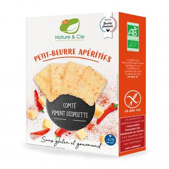 Petits-beurres apéritifs comté-piment d'Espelette sans gluten 80g bio - Nature & Cie