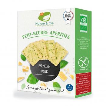 Petits-beurres apéritifs parmesan-basilic sans gluten 80g bio - Nature & Cie
