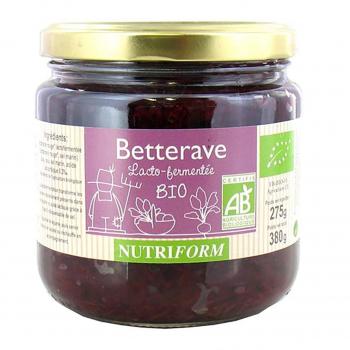 Betterave rouge lactofermentée 380g bio - Nutriform