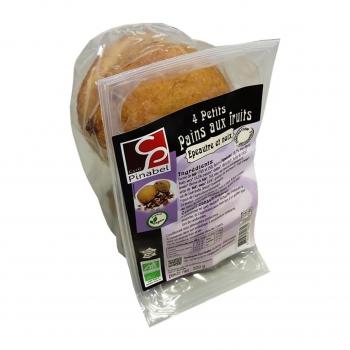 Boules de pain aux fruits. épeautre et noix 4x80g bio - Pinabel