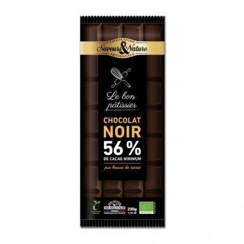 Chocolat noir à pâtisser 56% 200g bio - Saveurs et Nature