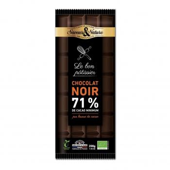 Chocolat noir à pâtisser 71% 200g bio - Saveurs et Nature