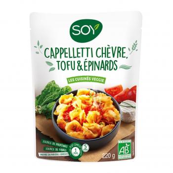 SOY SEC - Plat cuisiné CAPPELLETTI Chèvre/Tofu/Epignard 220G