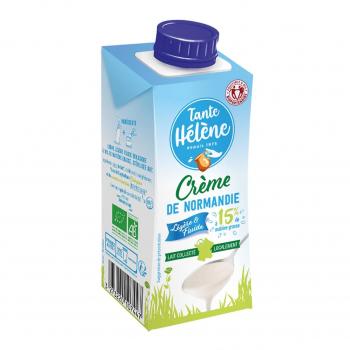 Crème légère de Normandie UHT 15%MG 20cl bio - Tante Hélène