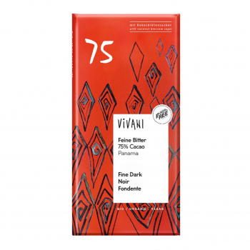 Chocolat noir 75% sucre de coco vegan 80g bio - Vivani