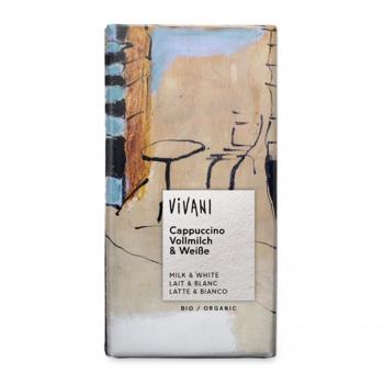 Chocolat lait et blanc et cappuccino 100g bio - Vivani