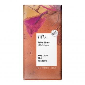 Chocolat noir 71% cacao vegan 100g bio - Vivani