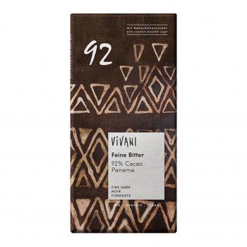 Chocolat noir 92% cacao vegan 100g bio - Vivani