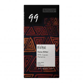 Chocolat noir 99% cacao vegan 100g bio - Vivani