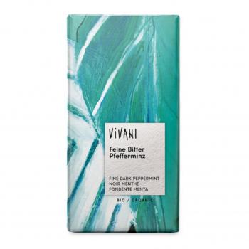 Chocolat noir fourré menthe 100g bio - Vivani
