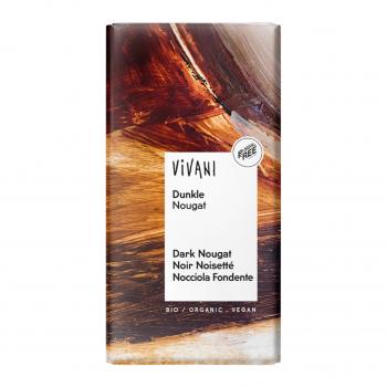 Chocolat noir noisetté et nougat vegan 100g bio - Vivani