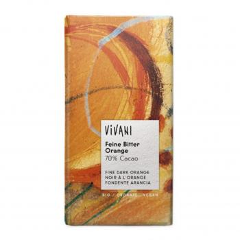 Chocolat noir orange vegan 100g bio - Vivani