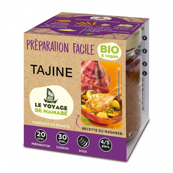 Préparation pour Tajine 80g bio - Voyage de Mamabe