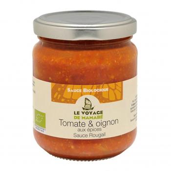 Sauce rougail tomate et oignon aux épices 200g bio - Voyage de Mamabe
