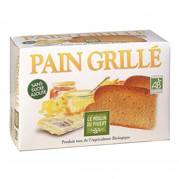 Pain grillé à la farine complète bio