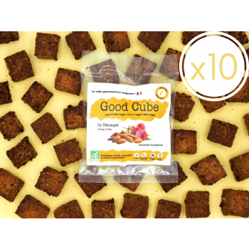 """x10 Biscuits aux framboises et amandes """"Le Découpé"""" réduit en sucre et graisse - 10x 35g"""