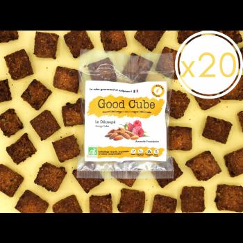 """x20 Biscuits aux framboises et amandes """"Le Découpé"""" réduit en sucre et graisse - 20x 35g"""