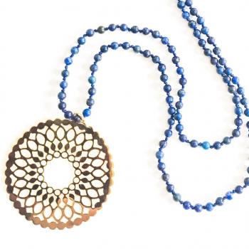 Sautoir Mandala AMMA - Lapis-Lazuli