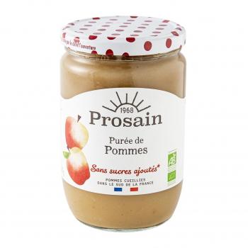 Purée de pommes sans sucres ajoutés 620g bio - PROSAIN