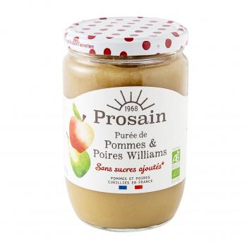 Purée de pommes poire williams sans sucres ajoutés 620g bio - PROSAIN