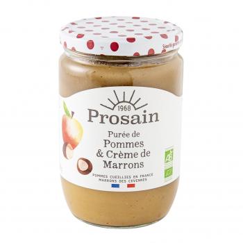 Purée de pommes à la crème marron 620g bio - PROSAIN