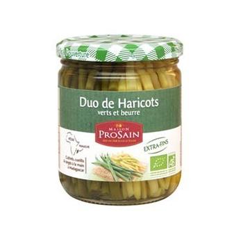 Duo de haricots verts et beurre extra-fins 45cl bio - PROSAIN
