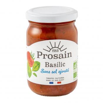 Sauce tomate-basilic sans sel ajouté 200g bio - PROSAIN