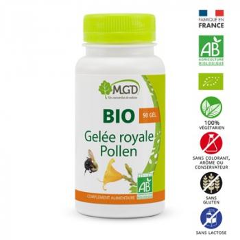 Gelée royale et pollen 90 gél. bio - MGD