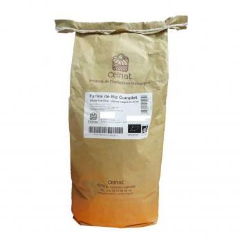 Farine de riz complet 3kg bio - Celnat