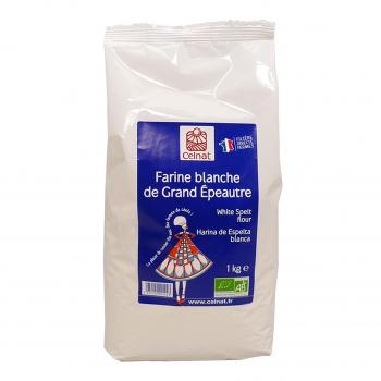 Farine de grand épeautre blanche 1kg bio - Celnat