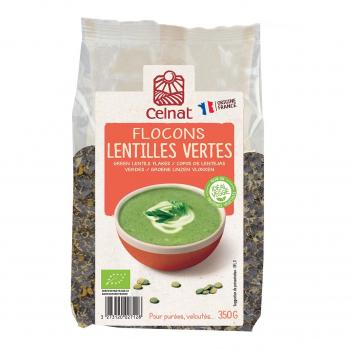 Flocons de lentilles vertes 350g bio - Celnat
