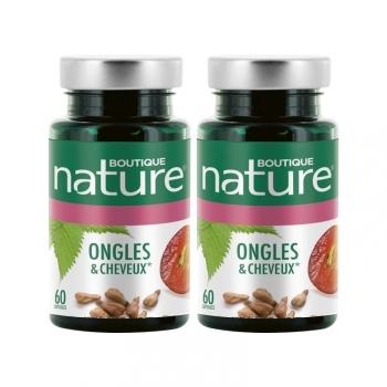 Complexe Ongles et cheveux - 2 X 60 capsules - Boutique Nature