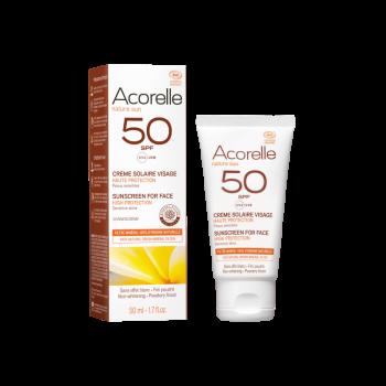 Crème solaire visage SPF50 - ACORELLE
