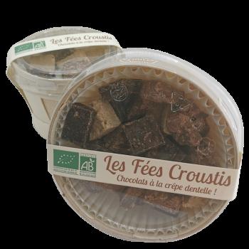 Les Fées Croustis (assortiment de chocolat à la crêpe dentelle) - 170g