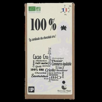 Tablette de chocolat Bio 100% cru
