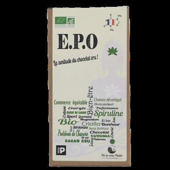 Tablette de chocolat CRU Bio E.P.O - 75 % de cacao