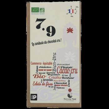 Tablette de chocolat BIO 7.9 cru