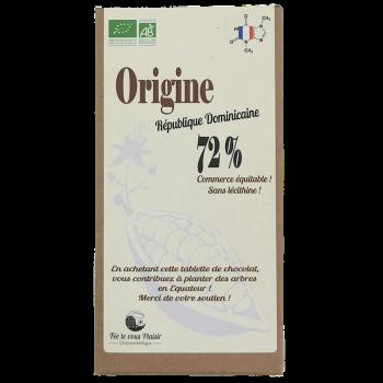 Tablette de chocolat noir BIO - Origine