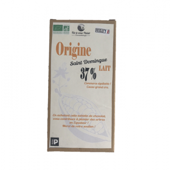 Tablette de chocolat au lait BIO - Origine